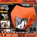 2016 Мотоцикла Байк Мотокросс Supermoto Универсальный Orange Фара Для KTM SX EXC XCF SXF SMR Фары Бесплатная Доставка!