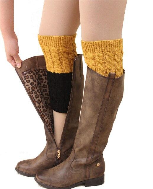 2017 Winter Frauen Warm Gestrickte Socken Beinlinge Boot Häkeln ...