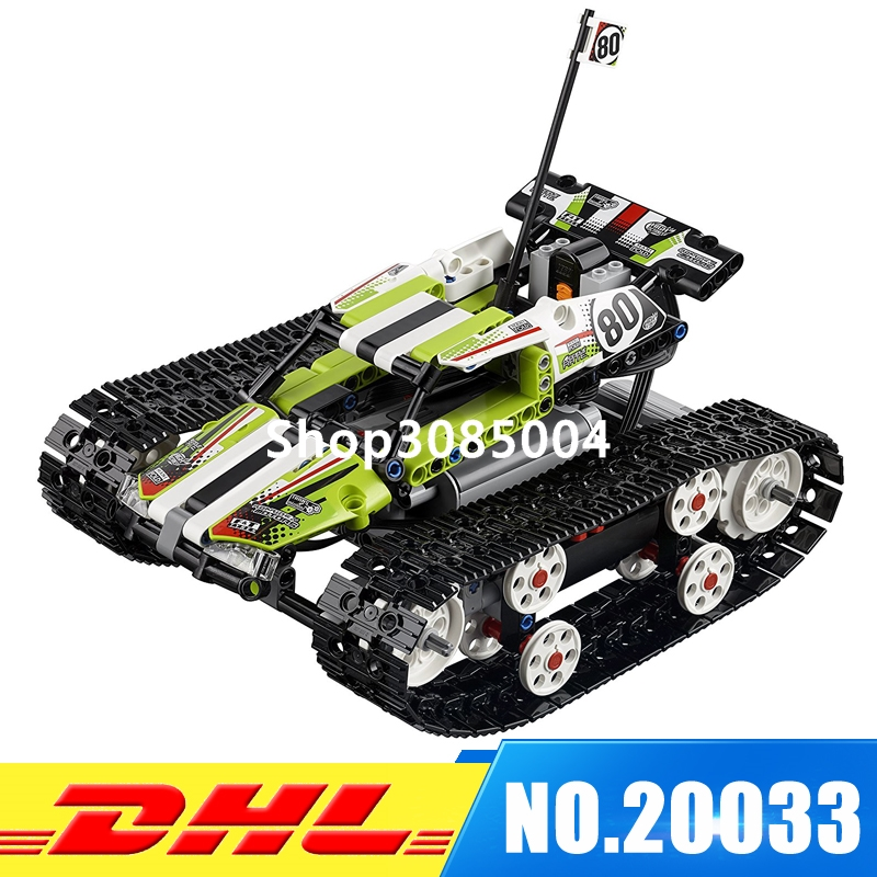 DHL Lepin 20033 Technic Series The RC Track Remote-control Race Car Set Educational Building Blocks Bricks Toys 42065 glow race track bend flex glow in the dark assembly toy 112 160 256 300pcs slot race track 1pc led car puzzle educational toys