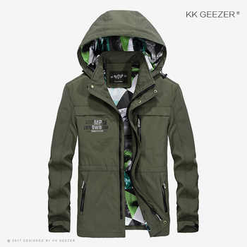 Mens Jacket Coat Windbreaker Bomber Hood Thin Jacket Loose Fall Streetwear Military Waterproof Casual Fashion Varsity Brand
