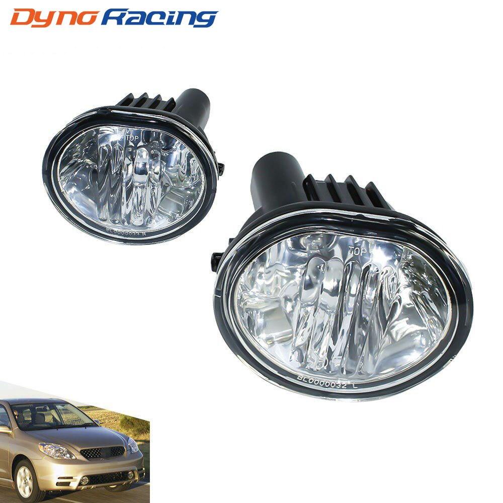 Fog Light For 2003-2008 Toyota Matrix Pontiac Vibe Fog Lamps Clear Lens Bumper Fog Lights Driving Lamps  YC100924-CL