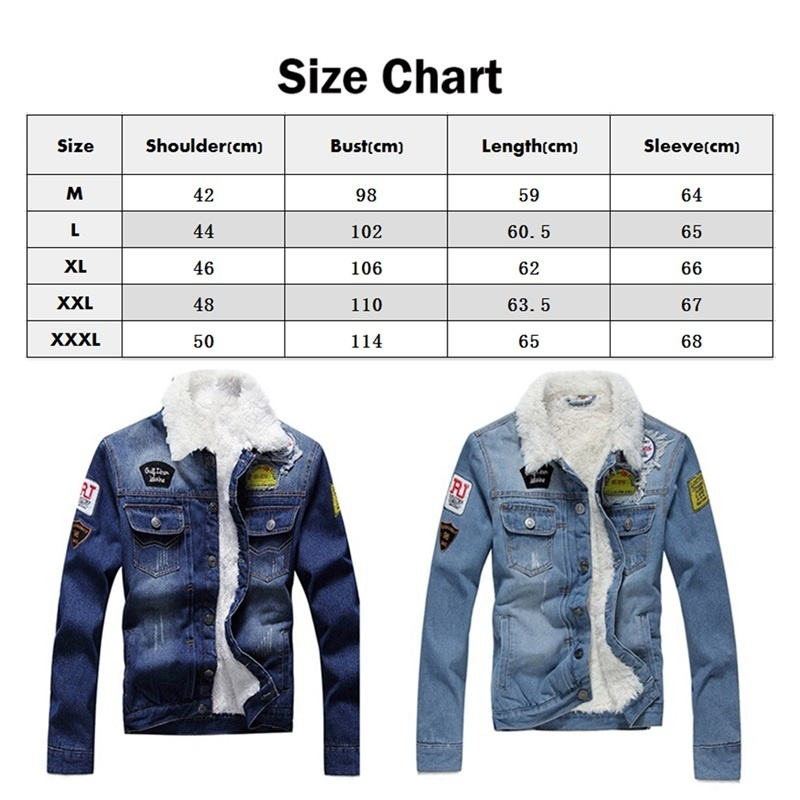 HTB1F GbXtfvK1RjSspoq6zfNpXas Men Jacket and Coat Trendy Warm Fleece Denim Jacket 2019 Winter Jean Jacket Thick Winter Coat For Male Classic Solid Outerwear