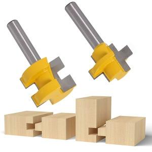 Image 5 - 2 pcs 8mm שוק גילוף סכין כיכר שן T חריץ טחינת מחבר קאטר נתב עץ כלי נגרות