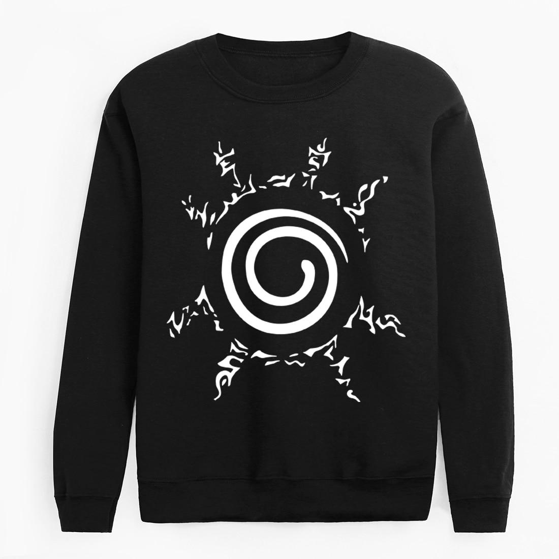 2020 Funny Naruto Print Pullovers Autumn Winter Hoodies Sweatshirt Harajuku Hip Hop Fleece Brand Clothing Men Fashion Tracksuits