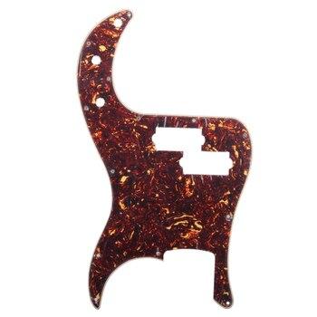 Ciemno czerwony z wzór płomienia 13 otworów na śruby Pickguard Scratch Plate 3 warstwowa krawędź skośna wykończenie dla precyzyjnej gitary basowej PB