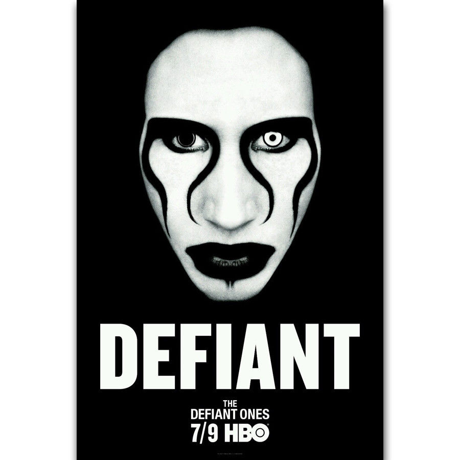 "Marilyn Manson Portrait of an American poster wall decor photo print 24x24/"""