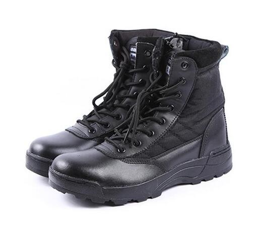Venda quente Retro Botas de Combate Inverno Inglaterra-estilo Moda Sapatos Pretos Curtos dos homens Botas Militares