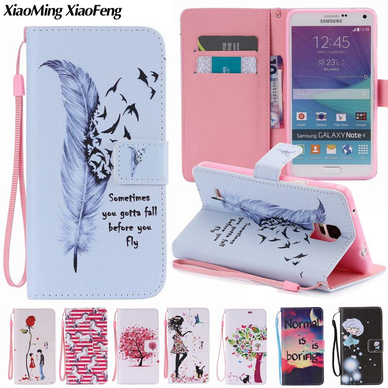 Case For Coque Samsung Galaxy Note 4 Phone Cases Samsung Note 4 Cases and Covers For Samsung Galaxy Note 4 Cover + Card Holder
