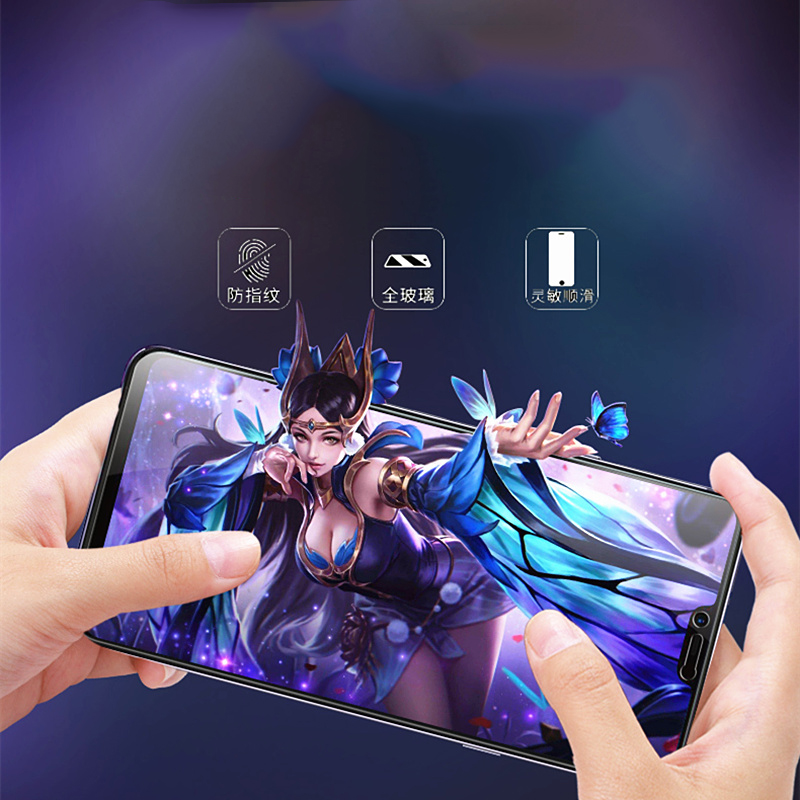 Full Coverage Anti Blue Tempered Glass for OPPO A39 A57 A59 A59S Anti Blue Screen Protector for OPPO A73 A77 A79 A83 Film in Phone Screen Protectors from Cellphones Telecommunications