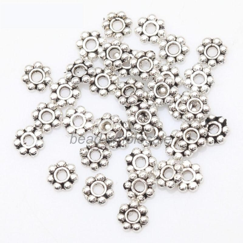 Wholesale 1000 PCS Tibetan Silver Daisy Flower Spacer Beads Jewelry Findings 4mm