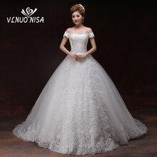 Vestido דה Noiva יוקרה משפט רכבת תחרה חתונה שמלת אלגנטי רקמת אפליקציות ללא משענת הכלה שמלת Robe De Mariage 20