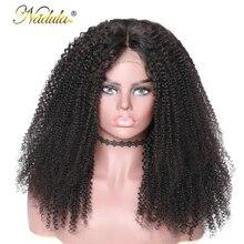 360 волосы Nadula, фронтальный парик на шнурке, предварительно выщипанные с детскими волосами, 150%/180% плотность, Remy, кудрявые человеческие волосы на шнурке, парики для женщин