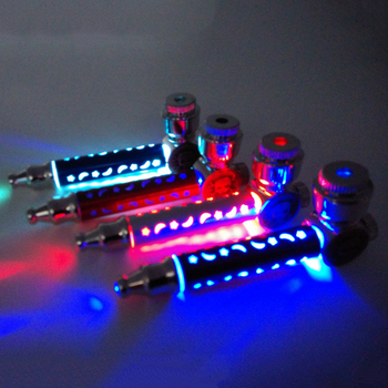 LED Flash Colorfull Light metal Pipes Tobacco Pipe Smoking Pipe Smoke Detectors Grinder Smoke Narguile Cigarette Holder