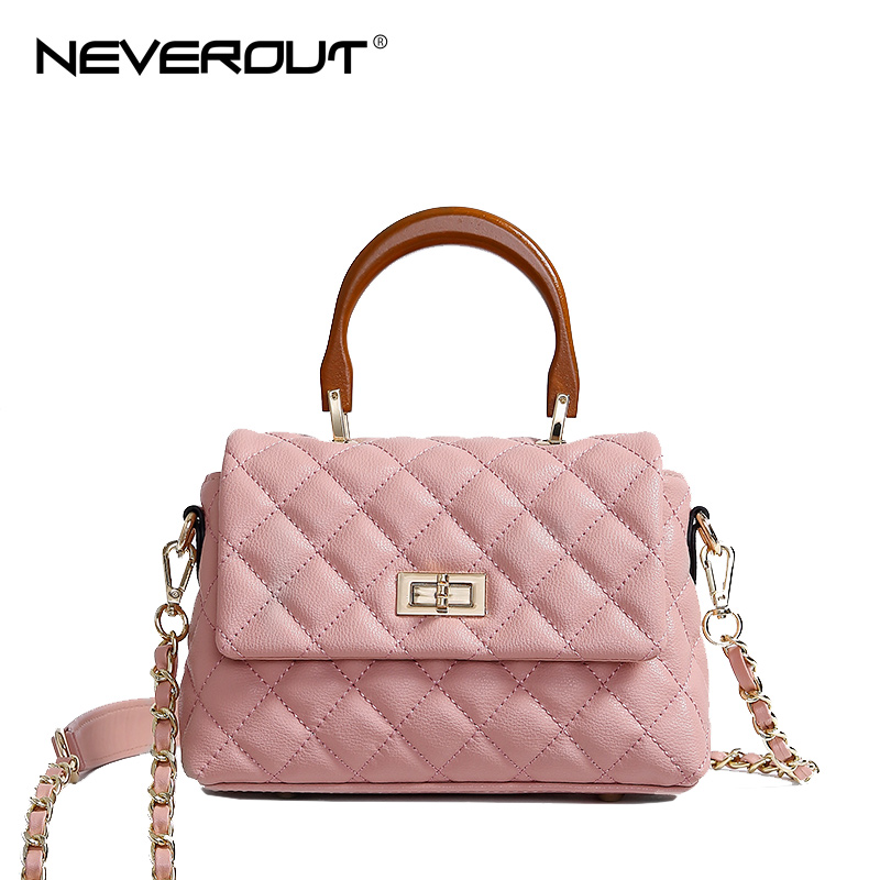 NEVEROUT Classic Lattice ladies Handbag Genuine Leather Small Tote Shoulder Bags for Women 2018 Candy Color Crossbody Flap Bag neverout new crossbody handbag women messenger bag cover small flap bags fashion shoulder bags simply style genuine leather bag