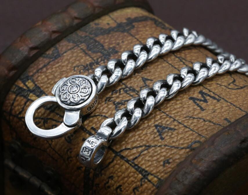 925 en argent Sterling mode étudiant collier six mots Mantra avec bijoux de paix - 5