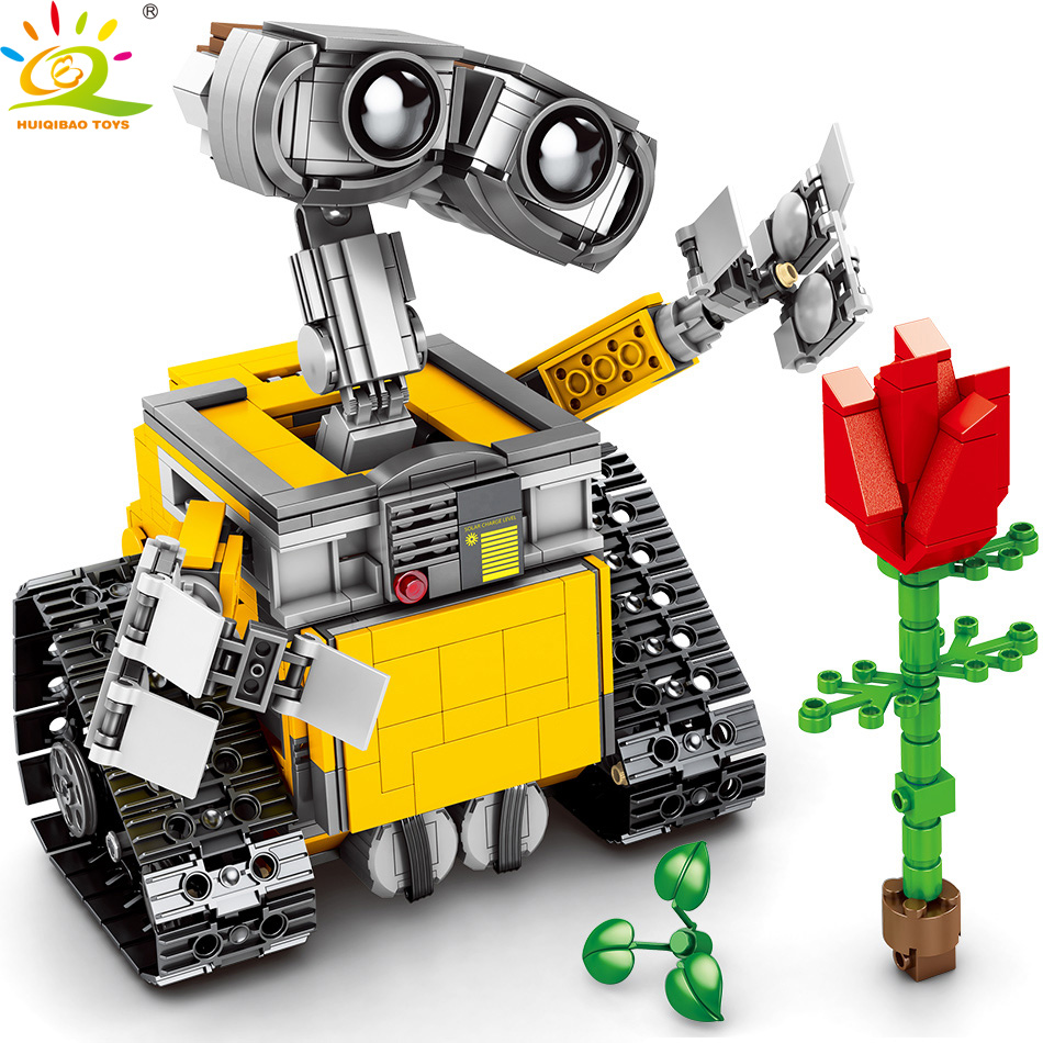 853pcs RC Wall-E Motor DIY Remote Control Robot Building Blocks legorreta Technic Car Bricks Educational toys for children Gift853pcs RC Wall-E Motor DIY Remote Control Robot Building Blocks legorreta Technic Car Bricks Educational toys for children Gift