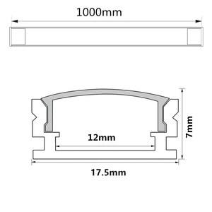 Image 5 - 10 20PCS DHL 1m LED strip aluminum profile for 5050 5730 LED hard bar light led bar aluminum channel housing withcover end cover