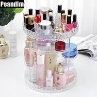 Peandimクリアdiomond 360度回転化粧オーガナイザーdiy assemleアクリル化粧オーガナイザーブラシホル