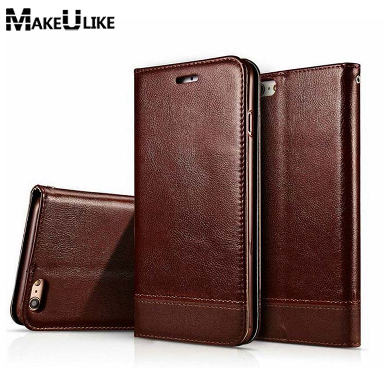 Magnetic Wallet Case For iPhone 6 6S 7 8 Plus Flip Cover PU Leather - Mobile Phone Accessories and Parts