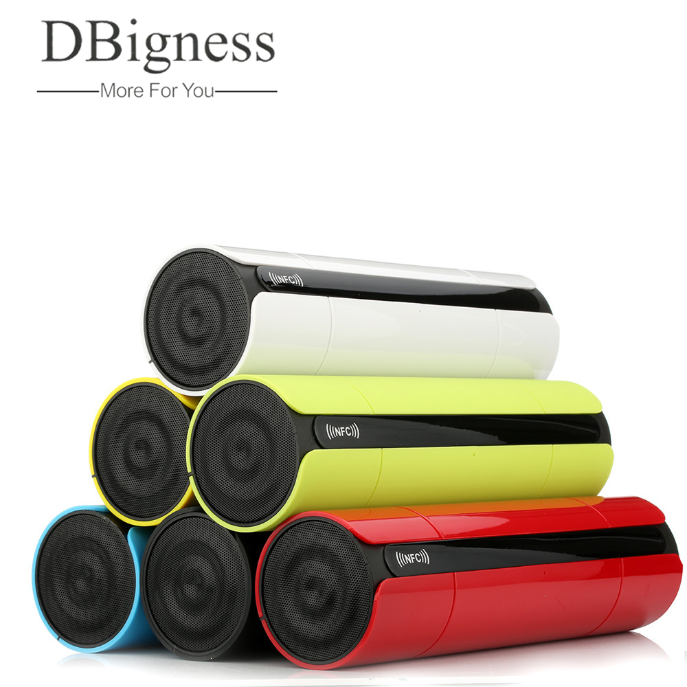 Dbigness NFC Bluetooth speaker Touch Portable Wireless Bluetooth Stereo Speaker with LCD Screen Mic for Phone TF FM USB KR8800 wireless bluetooth speaker led audio portable mini subwoofer