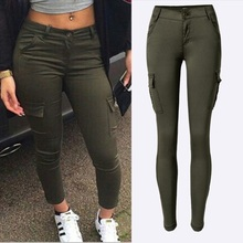 Fashion Army Green Jeans Women Sexy Low Rise Ladies Skinny Slim Femme Plus Size