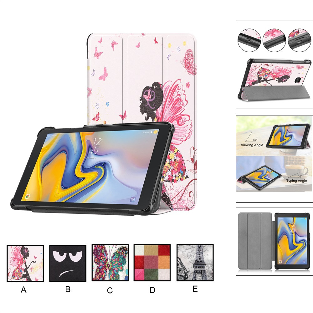 NEW 8 inch funda stand case Painting Case For Samsung Galaxy Tab A 8.0 2018 T387 SM-T387 Tablet for Galaxy Tab A 8.0+ Pen #YL