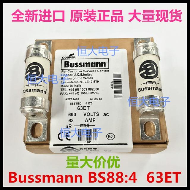 BUSSMANN BS884 Fused Ceramic Fuse HRC 63ET 63A 690V