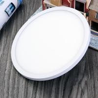 AC85 265V18W Super Thin Round Square Suspended Ceiling Recessed LED Panel Light Cold White Warm White