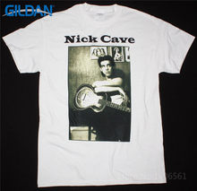 T Shirt Tops  Crew Neck Men  Nick Cave Photo Short Sleeve Printed Tee