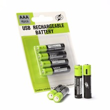 ZNTER 1,5 в 400 мАч Мирко USB перезаряжаемые батарея AAA батарея для игрушечные лошадки RC аккумуляторы с контроллером литиевая Прямая доставка