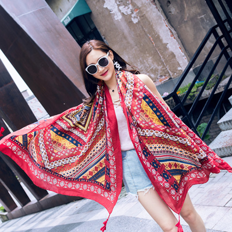 Sarong 2019 New Print Sunscreen Women Pareo 100*180CM Summer Beach Style Oversized Wrap 1PC Silk Scarf Beach Towel Voile