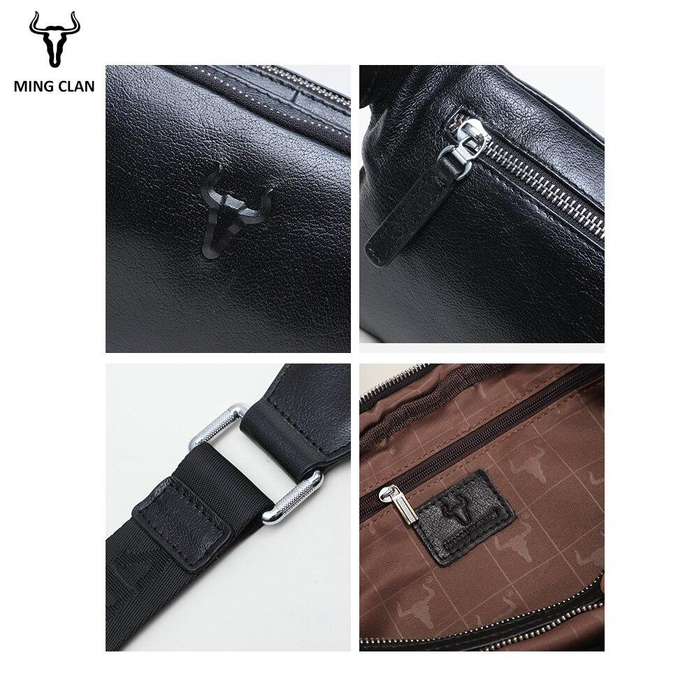 Mingclan, мужские дорожные сумки из натуральной коровьей кожи, сумки на пояс, портативная мужская сумка на пояс, мини сумка на пояс для телефона, ... - 6