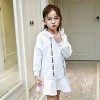 Children Dresses For Princess Girls Autumn Mouse Hoodies Dresses Kids Cotton Clothes Vestidos Infantil Girls Sports