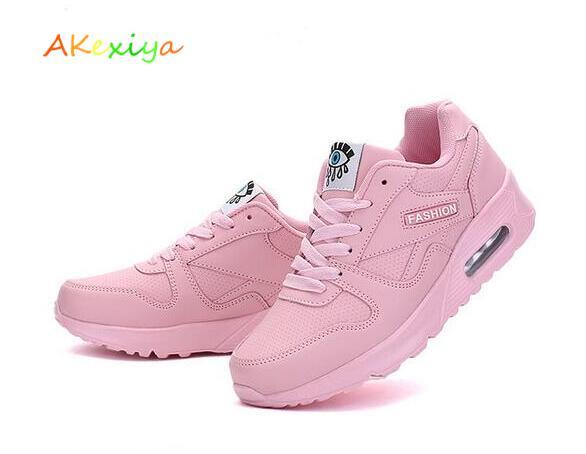 AkexiyaWomen Running Shoes Krasovki Womens Sneakers 2018 Sneakers Women  Zapatillas Deportivas Mujer Running Shoes Pink Size 7.5-in Running Shoes  from Sports ...