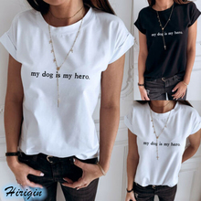 Summer Women Casual T-shirts 2019 New Short Sleeve O-Neck Letter Print Cotton T Shirts