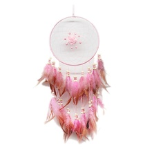 Buy pink dream catcher and get free shipping on aliexpress fantastic pink rose dream catcher wedding romance handmade dreamcatcher car wind chimes beads feathers home decoration mightylinksfo
