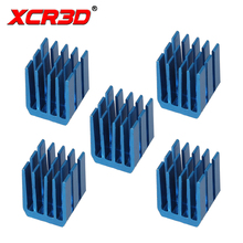 цена на XCR3D Printer 3D Parts Stepper Motor Driver Module Heat sinks for A4988 DRV8825 LV8729 TMC2100 Cooling Block Heatsink 5pcs/lot