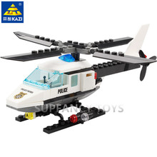 102Pcs City Police Helicopter Model Building Blocks Sets Airplane DIY Bricks Educational Toys For Children new original banbao 8342 city patrol boat building blocks sets police boats model assemble bricks toys s213