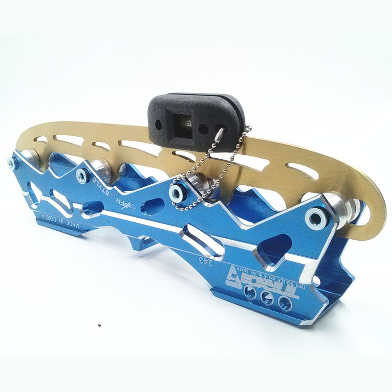 Al por menor 1 unid hielo afilador skate diamante sacapuntas mano patín herramienta de afilado herramienta de Patinaje