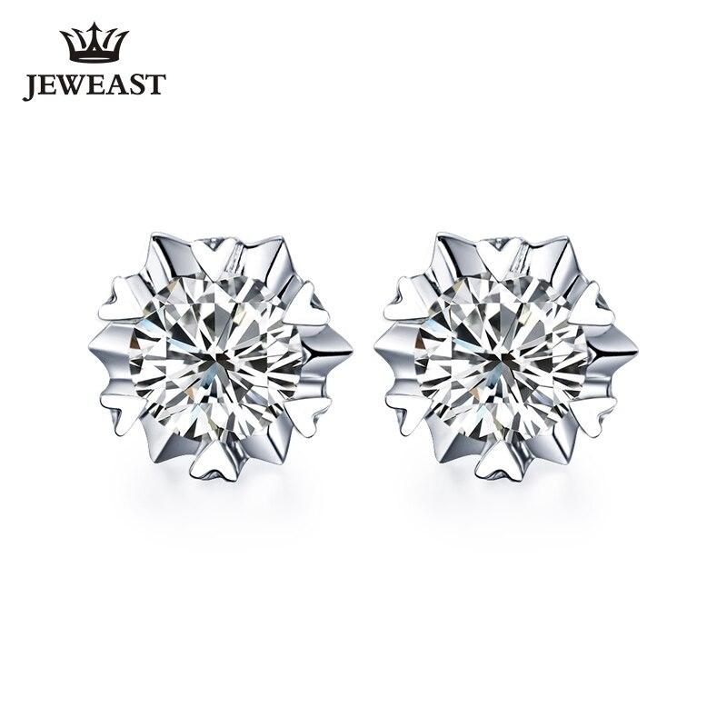 18 K pur or boucle d'oreille réel AU 750 solide or boucles d'oreilles grand diamant haut de gamme à la mode classique fête fine bijoux vente chaude nouveau 2018