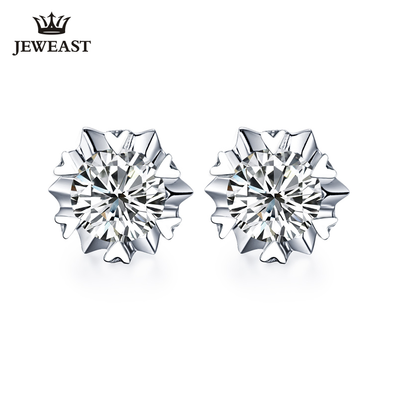 18K Pure gold Earring real AU 750 solid gold Earrings Big Diamond upscale trendy Classic party fine jewelry hot sell new 2018 18k pure gold earrings white rose star fine jewelry genuine real 750 solid 2017 hot selling women girl gift trendy party good