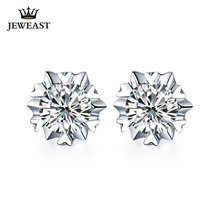 18K Pure gold Earring real AU 750 solid gold Earrings Big Diamond upscale trendy Classic party fine jewelry hot sell new 2020