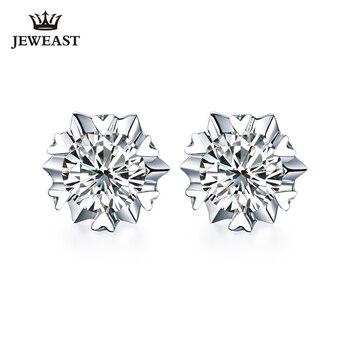 18K Reinem gold Ohrring echt AU 750 solid gold Ohrringe Große Diamant gehobenen trendy Klassische partei edlen schmuck heißer verkaufen neue 2018