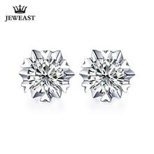 Boucles doreilles en or pur 18K, véritable AU 750, grand diamant, chic, tendance, bijou fin de fête, offre spéciale, nouveauté 2020