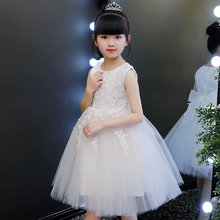 2018 new girls dress summer princess dress children's clothing girl Korean summer princess dress summer tide