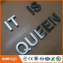 Custom advertising 3d sign letters brushed metal