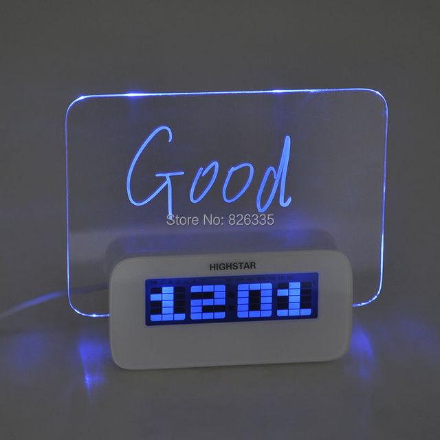Calendario Elettronico.Us 20 88 Acrilico Led Fluorescente Bacheca Digital Alarm Clock Calendario Elettronico Digitale Desktop Orologi Da Tavolo Despertador In Acrilico Led