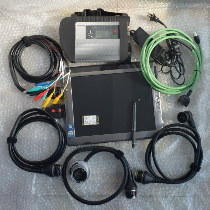 mb star professional diagnostic tool mb sd c4 star connect compact 4 with 2019.07v ssd in laptop le1700 tablet ready to work