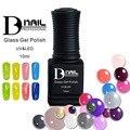 BD 6pc/set 20colors glass uv gel polish Pure color transparent soak-off nail gel polish Manicure UV gel