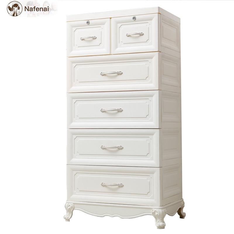 Style européen commode en plastique rangement organisateur boîte armoire meubles de ménage bureau rangement boîte de rangement grand - 3